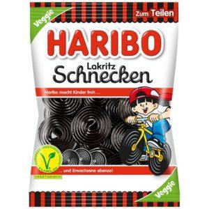 German Haribo Lakritz Schnecken (Black Licorice Wheels) - Veggie